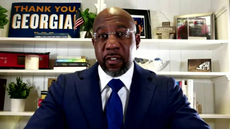 Democrat Raphael Warnock is projected to win one of Georgia's two Senate runoffs, becoming the...