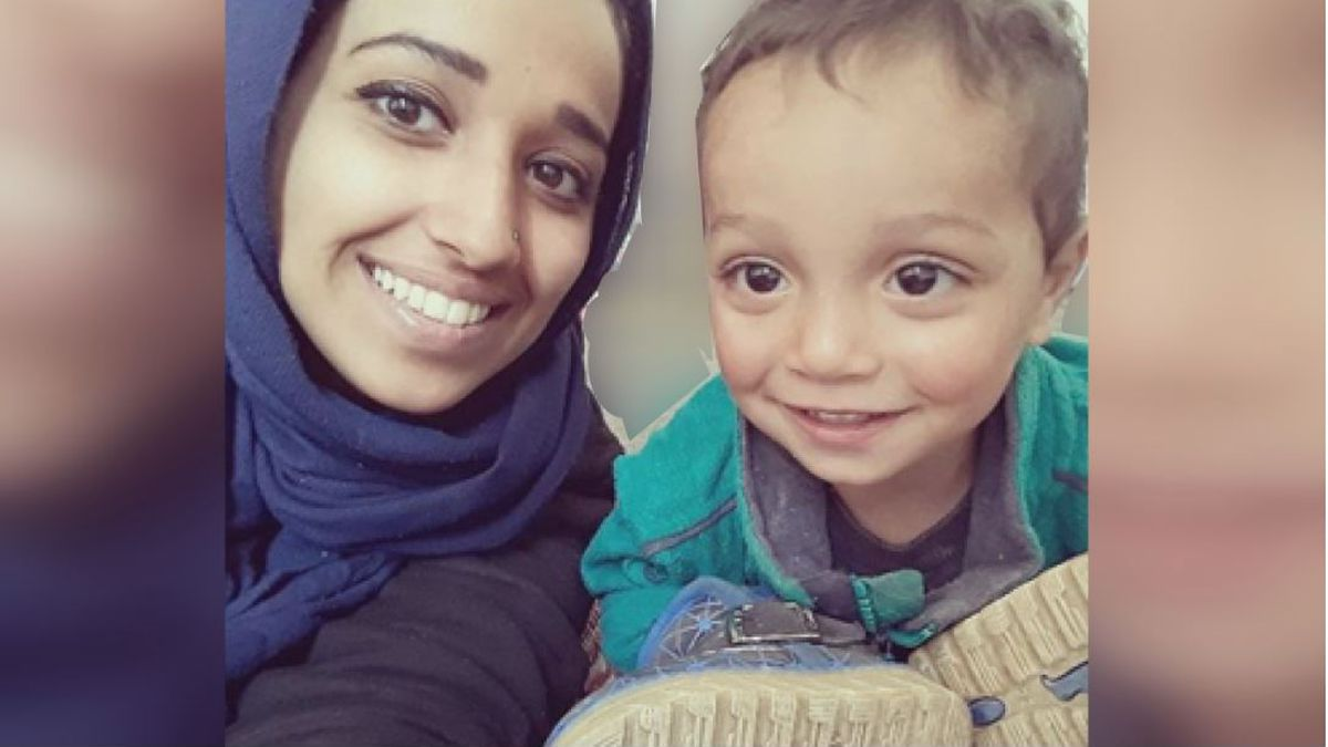 Hoda Muthana pictured with her 18-month old son.