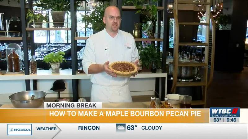 Perry Lane Hotel's Chef David shows us how to make a Maple Bourbon Pecan Pie