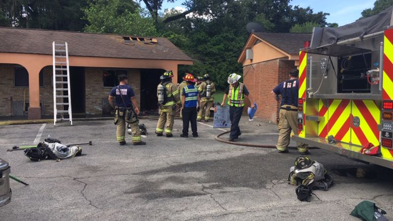 A fire broke out in a room at the Thunderbird Motel on Ogeechee Road Monday morning.