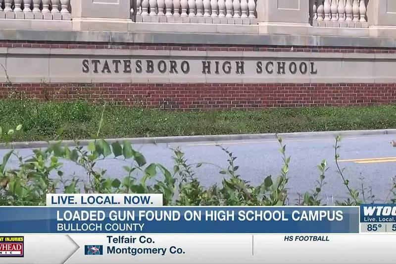 Loaded gun found on Statesboro High campus, suspect arrested