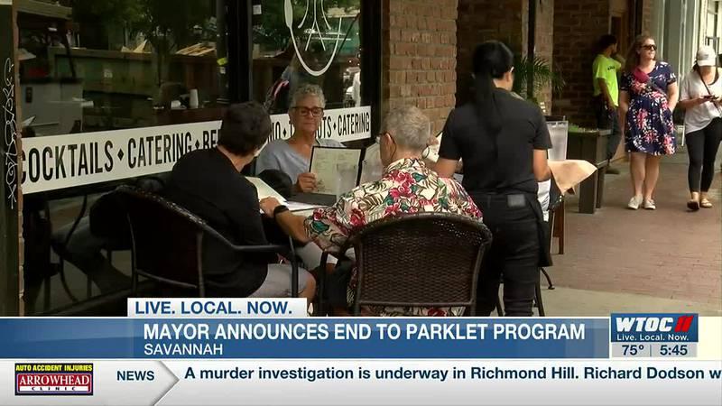 Savannah mayor announces end to parklet program