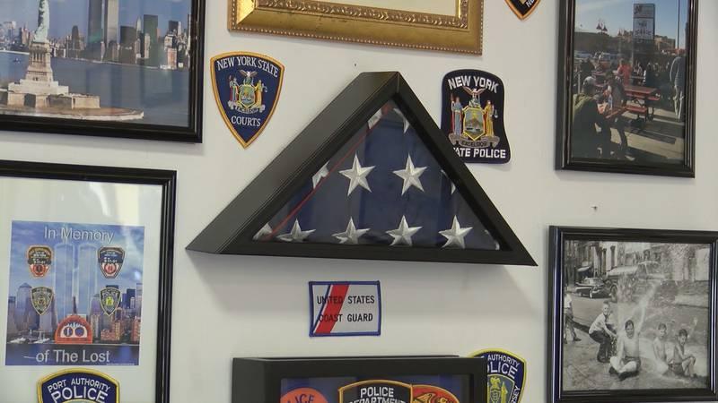 9/11 tribute at Rocky's New York Deli in Savannah.