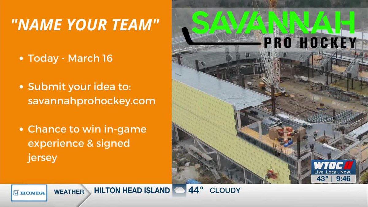 Tim LIVE: Savannah hockey 'Name Your Team' contest