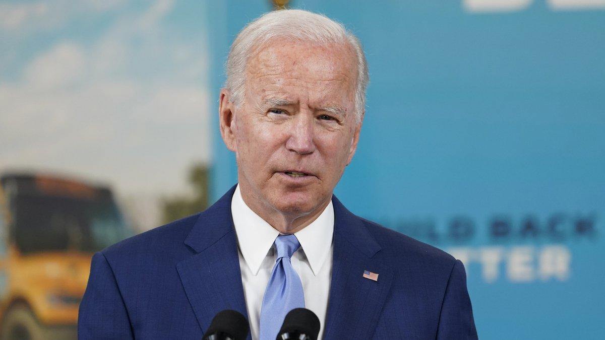 FILE - President Joe Biden speaks about the September jobs report, Friday, Oct. 8, 2021, from...