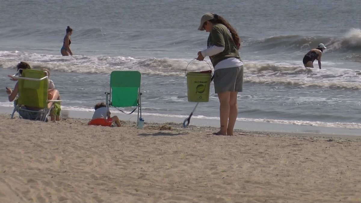 Volunteers were out on Tybee Island early Friday morning doing a beach cleanup ahead of the...