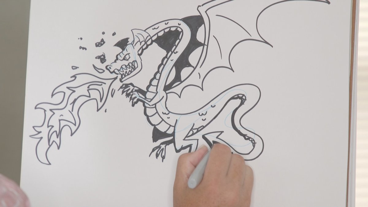 Brian Byers shows us how to draw a dragon.