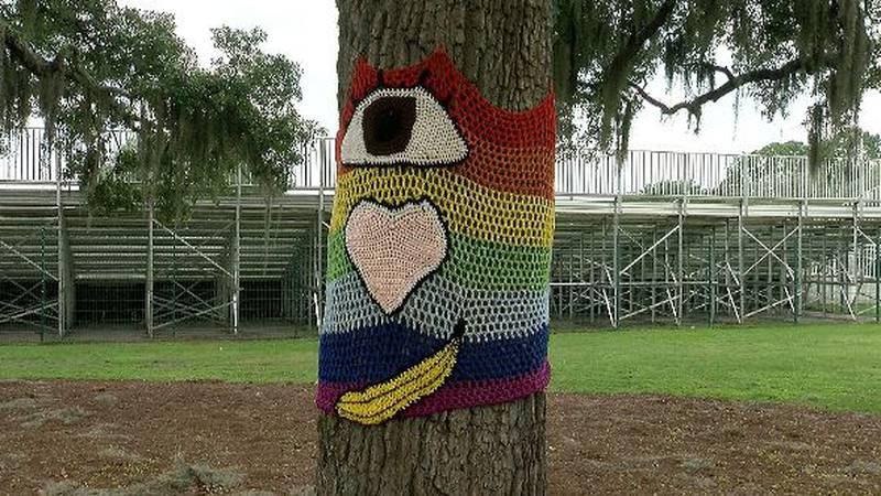 Daffin Park Yarn Bomb