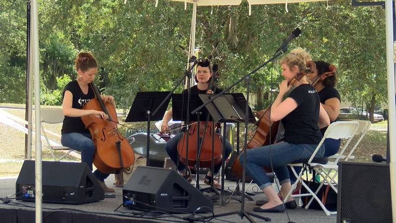 Savannah Philharmonic members playing at an event in Savannah. Source: WTOC