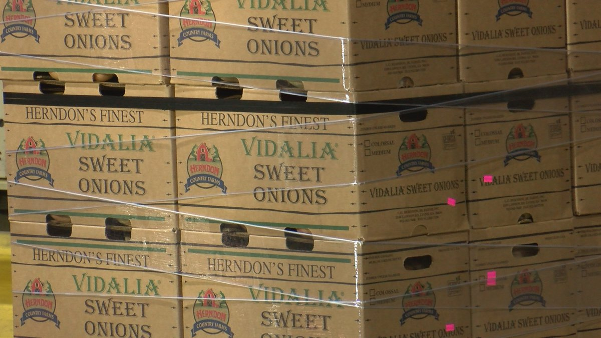 Onions fresh from the field ready to head across the county.
