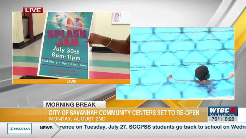 City of Savannah community centers set to re-open