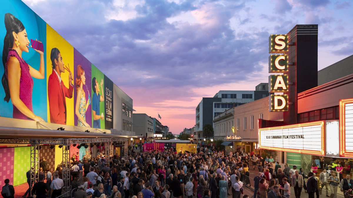 Fall 2019 SCAD Savannah Film Festival Opening Night Block Party on Broughton Street.