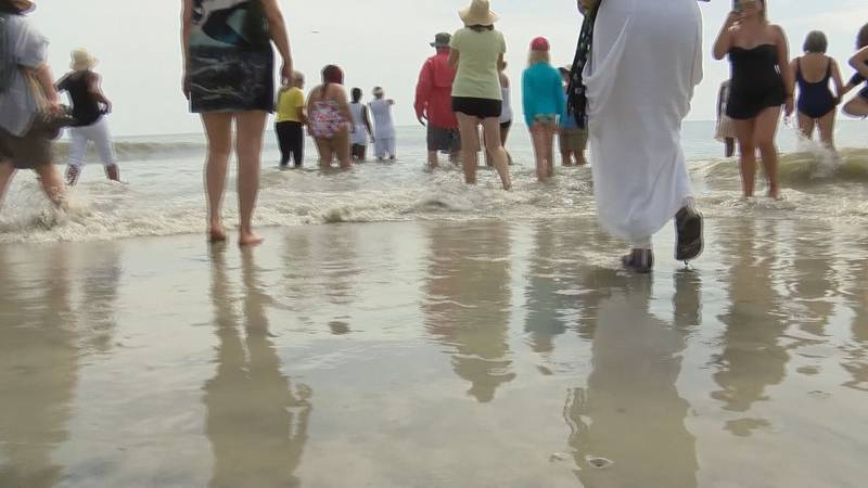 Tybee Island celebrated Juneteenth with the annual wade-in at North Beach.