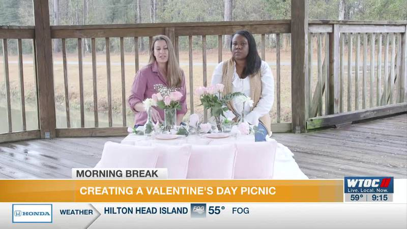 Creating a Valentine's Day picnic