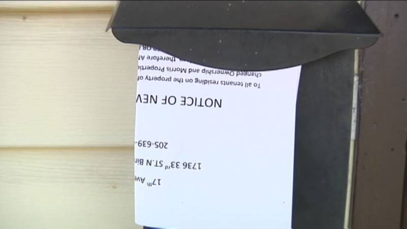 One of the eviction notices. Source: WBRC video