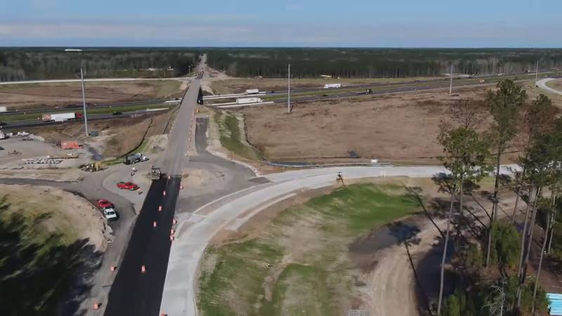Commuters will have access to the new I-95 roundabout interchange and overpass bridge at...