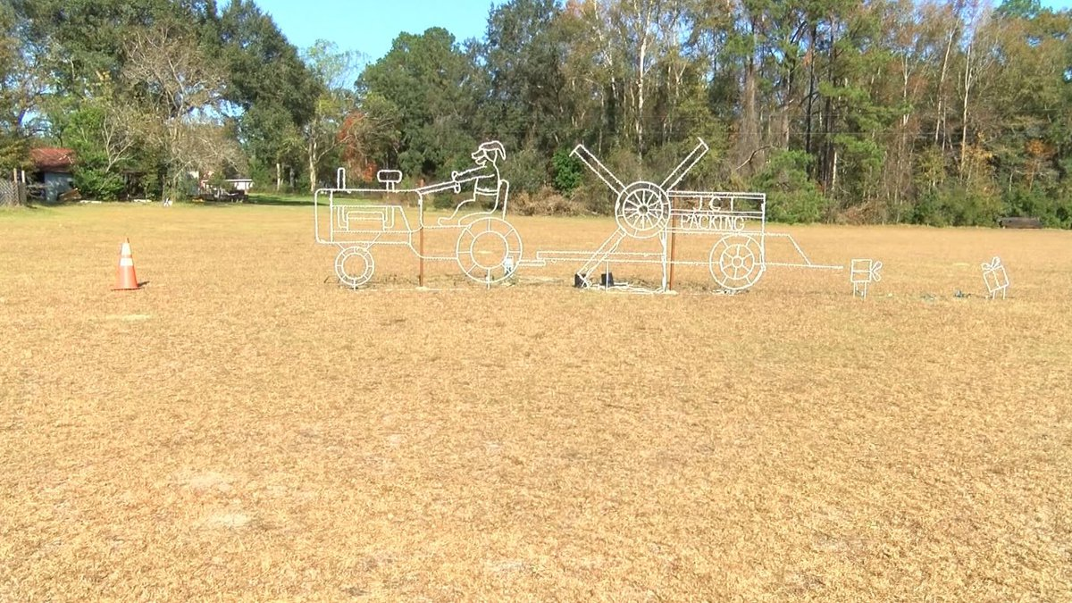 Some of the lights that were stolen in Walterboro.