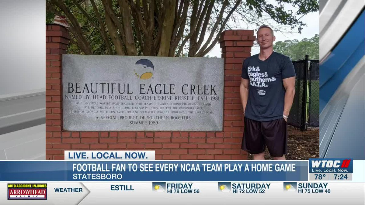 Football fan on his way to completing bucket list visits Prettiest Little Stadium in America