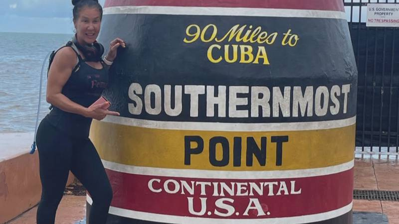 Patricia Espre ran from Lubec, Maine, the easternmost point in the U.S. to Key West, Florida,...