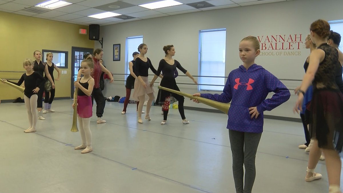 Dancers with Savannah Ballet rehearse for their upcoming performance.