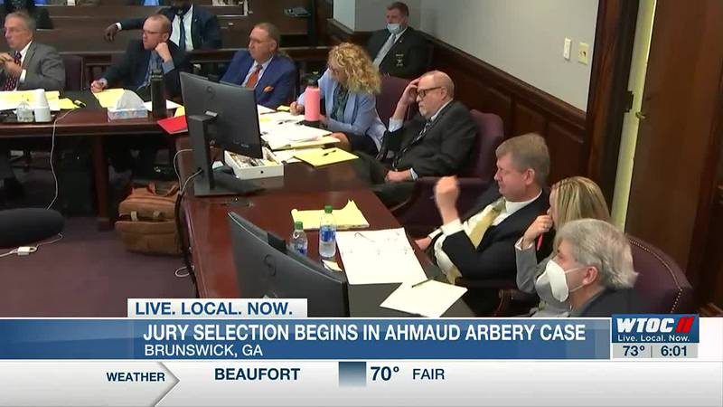 Jury selection begins for trial of 3 men charged with killing Ahmaud Arbery