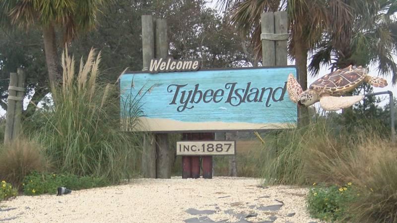 Tybee Island, Ga. welcome sign.