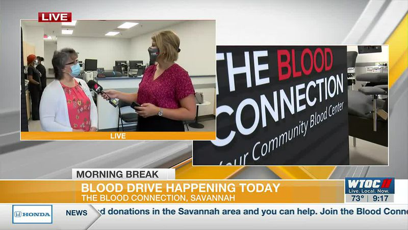 LIVE: Blood drive happening today at The Blood Connection (Part 1)