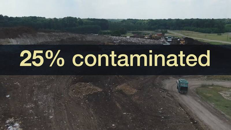 25% of Savannah's recycling in 2020 was contaminated.