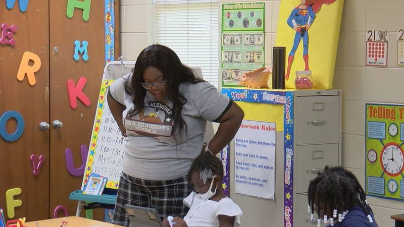 Turner Elementary school 1st-grade teacher, Efashia Mitchell said she made relationships with...