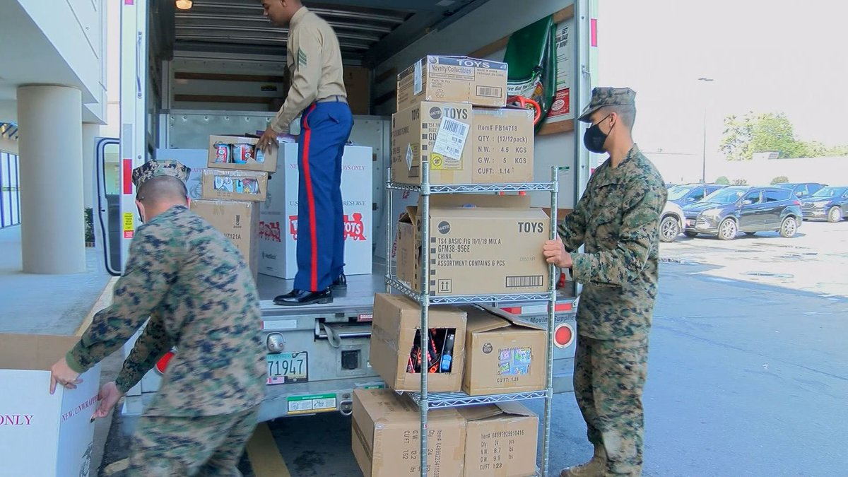 Some reinforcements arrived Monday for WTOC's annual Toys for Tots drive, thanks to the United...