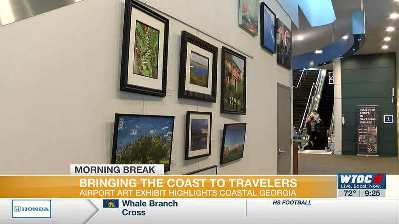 Airport art exhibit highlights Coastal Georgia