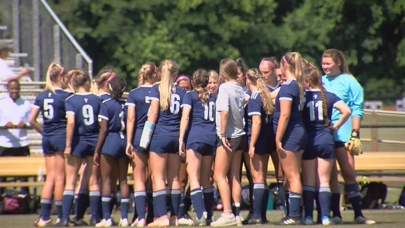 Hilton Head Christian Academy girls soccer at Heathwood Hall in the SCISA 2A State Championship...