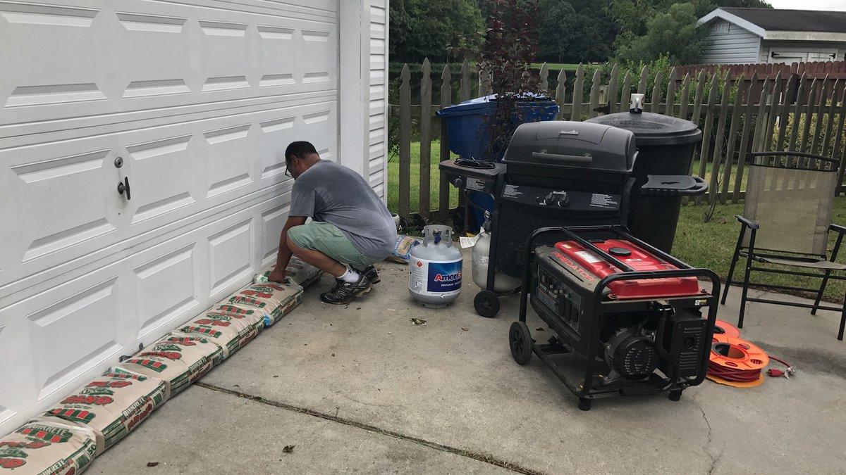 Residents prep for hurricane