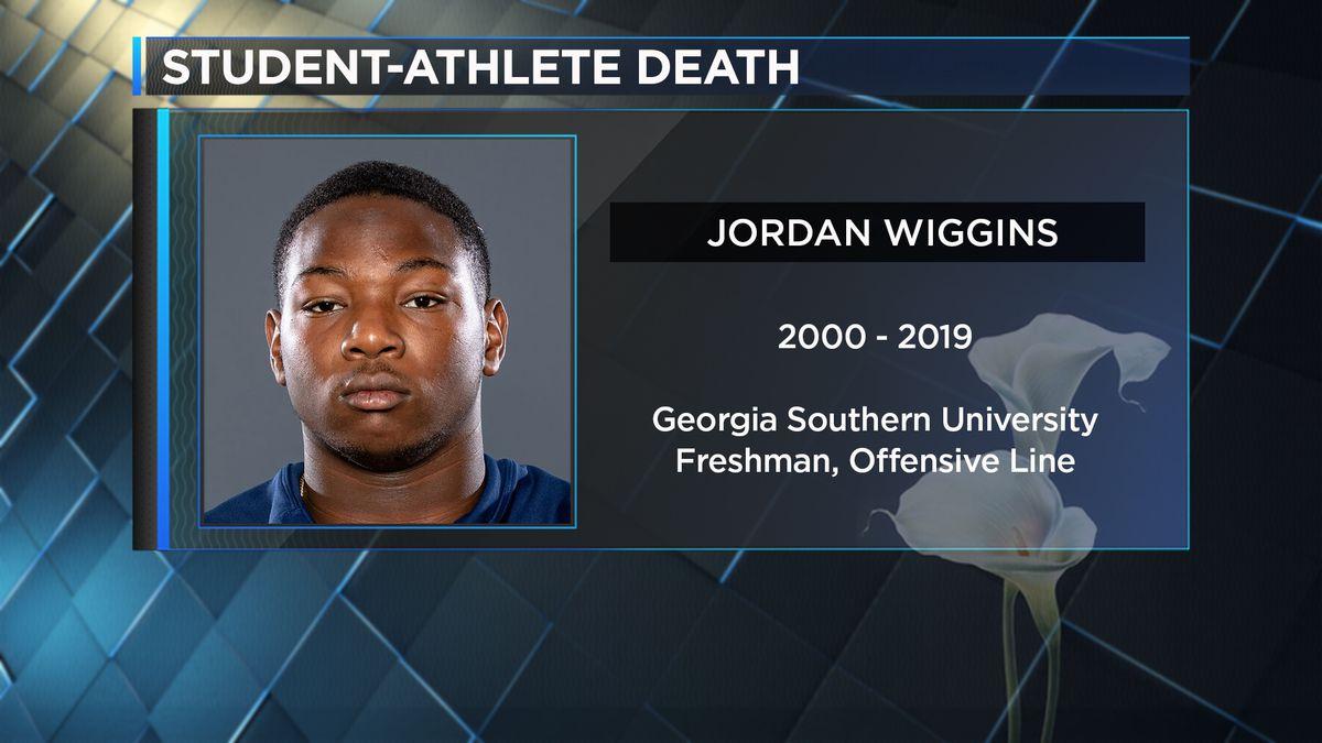Georgia Southern confirms freshman offensive lineman Jordan Wiggins died Monday.  Wiggins was...