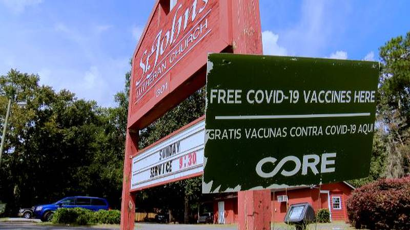 St. John's Lutheran Church held the first of four COVID-19 vaccine clinics on Wednesday.
