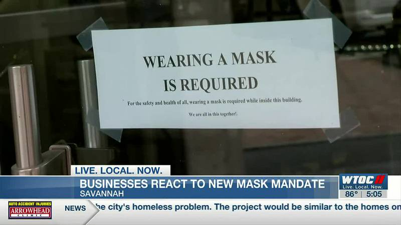 Savannah businesses respond to reinstated face mask mandate