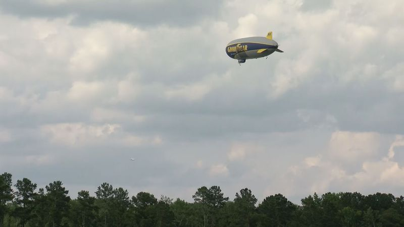 The Goodyear Blimp flies above The Palmetto Championship at Congaree.