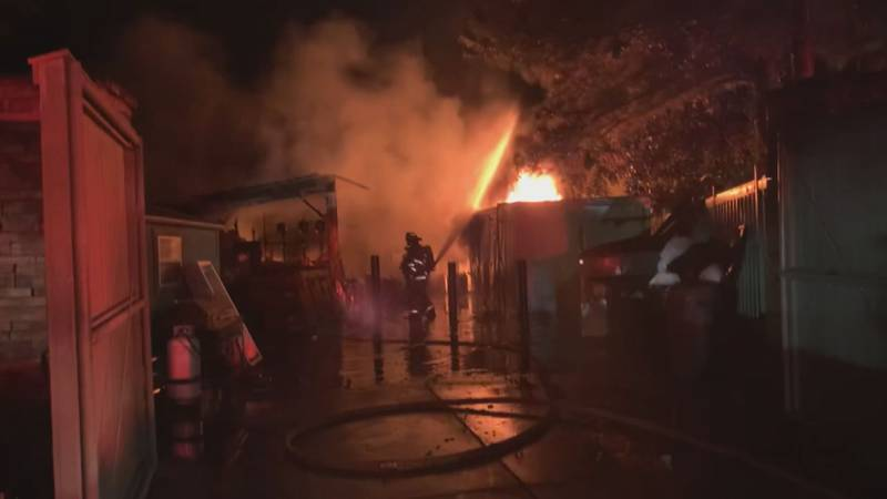 Fire broke out at a storage facility in Bluffton, S.C. Friday morning.